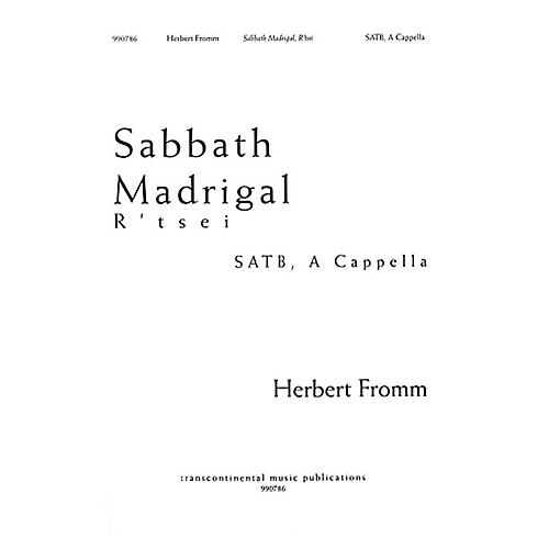 Transcontinental Music Sabbath Madrigal SATB composed by Herbert Fromm