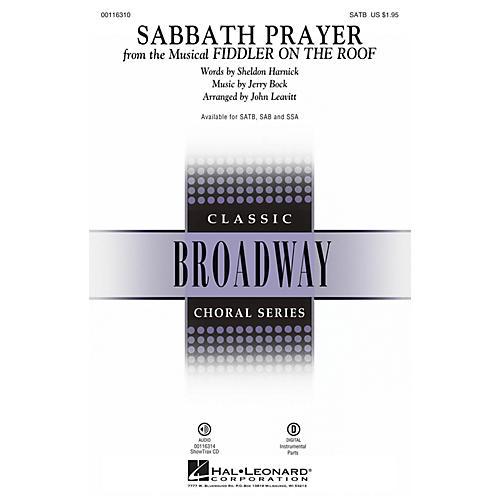 Hal Leonard Sabbath Prayer (from Fiddler on the Roof) SATB by Fiddler On The Roof (Musical) by John Leavitt