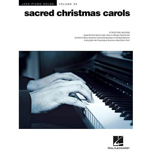 Hal Leonard Sacred Christmas Carols - Jazz Piano Solo Series Vol. 39
