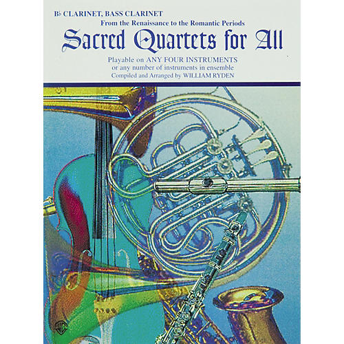 Alfred Sacred Quartets for All B-Flat Clarinet and Bass Clarinet-thumbnail