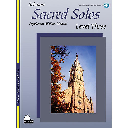SCHAUM Sacred Solos - Level Three Educational Piano Book with CD (Level Early Inter)-thumbnail