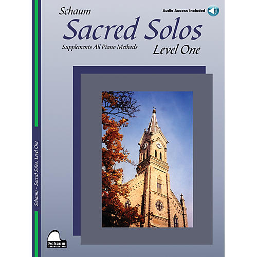 SCHAUM Sacred Solos (Level One) Educational Piano Book with CD (Level Elem)