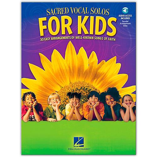 Hal Leonard Sacred Vocal Solos For Kids Book/CD