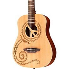 Luna Guitars Safari 3/4 Size Travel Guitar with Peace Design Mahogany with Satin Finish