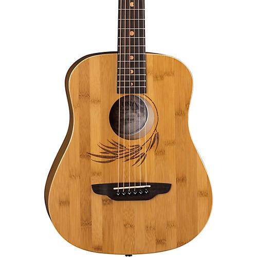 Luna Guitars Safari Bamboo 3/4 Satin Natural Acoustic Guitar-thumbnail