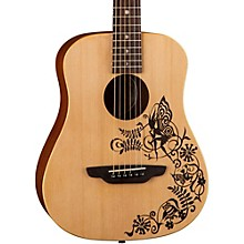 Luna Guitars Safari Fantasy Travel Acoustic Guitar
