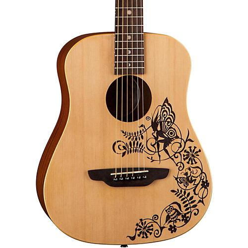 Luna Guitars Safari Fantasy Travel Acoustic Guitar-thumbnail