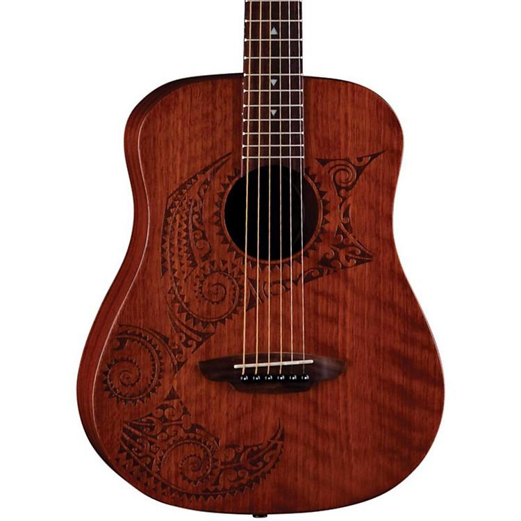 Luna GuitarsSafari Tattoo 3/4 Size Travel GuitarSatin Mahogany