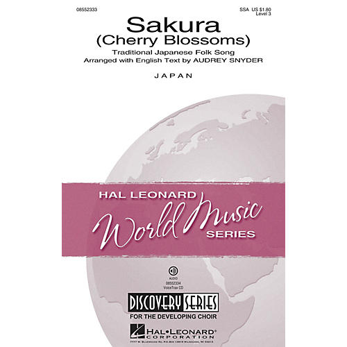 Hal Leonard Sakura (Cherry Blossoms) Discovery Level 3 SSA arranged by Audrey Snyder-thumbnail
