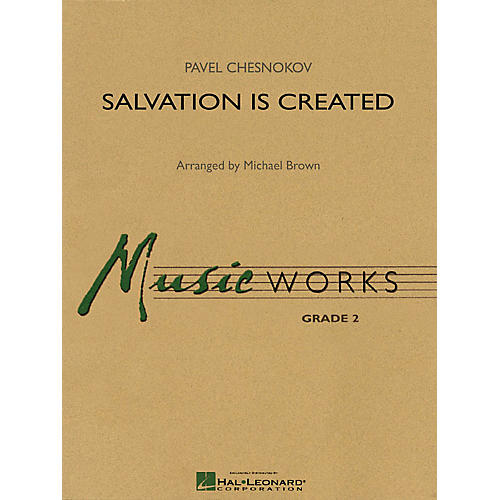Hal Leonard Salvation Is Created Concert Band Level 2 Arranged by Michael Brown-thumbnail