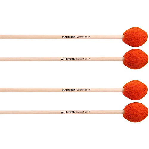 Malletech Sammut Marimba Mallets Set of 4 (2 Matched Pairs) 16