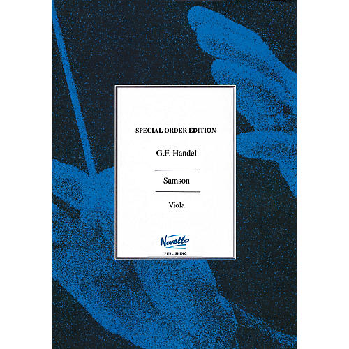 Novello Samson (Viola Part) Music Sales America Series Softcover Composed by George Frederic Handel-thumbnail