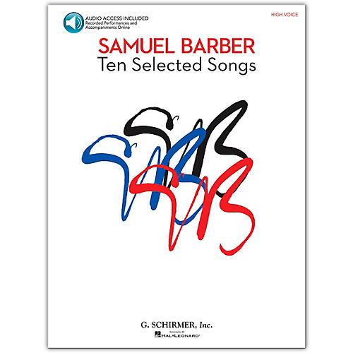 G. Schirmer Samual Barber - Ten Selected Songs High Voice Book/CD