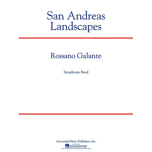 G. Schirmer San Andreas Landscapes Concert Band Level 5 Composed by Rossano Galante-thumbnail