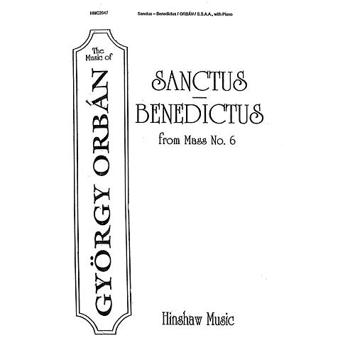 Hinshaw Music Sanctus-Benedictus (From Mass #6) SSAA composed by Gyorgy Orban-thumbnail