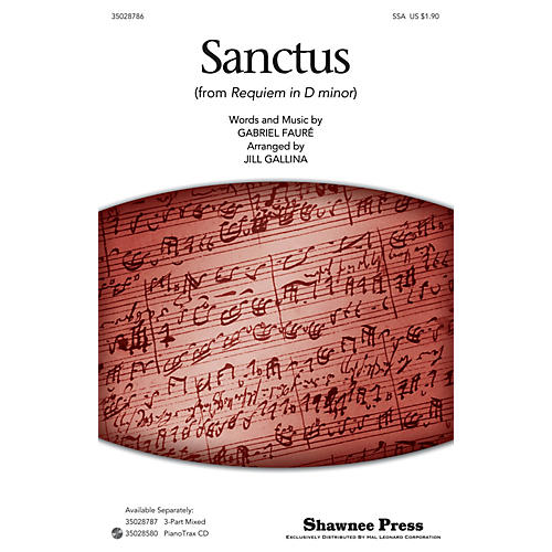 Shawnee Press Sanctus SSA arranged by Jill Gallina-thumbnail