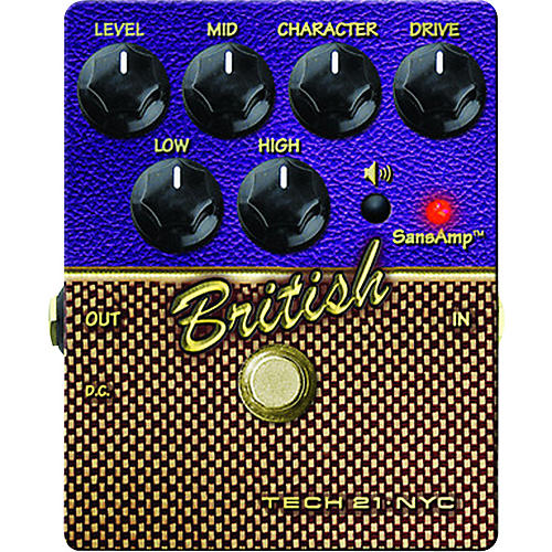 Tech 21 SansAmp Character Series British V2 Distortion Guitar Effects Pedal