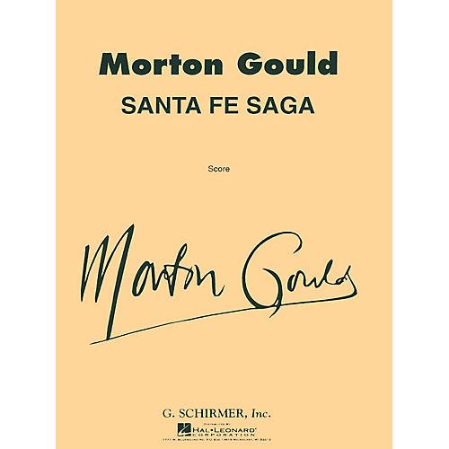 G. Schirmer Santa Fe Saga For Concert Band Full Score Concert Band Composed by M Gould-thumbnail