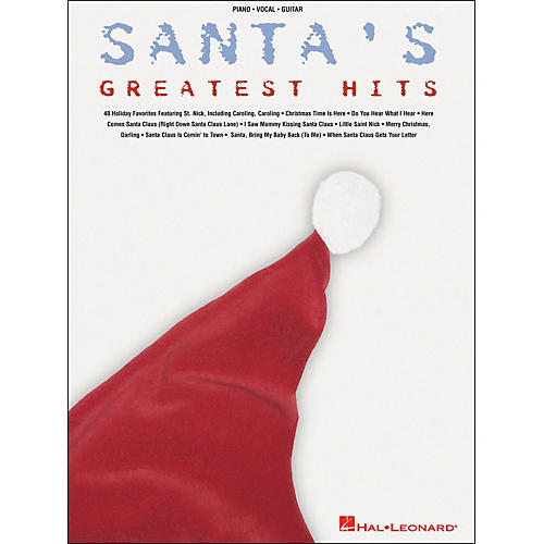 Hal Leonard Santa's Greatest Hits arranged for piano, vocal, and guitar (P/V/G)-thumbnail