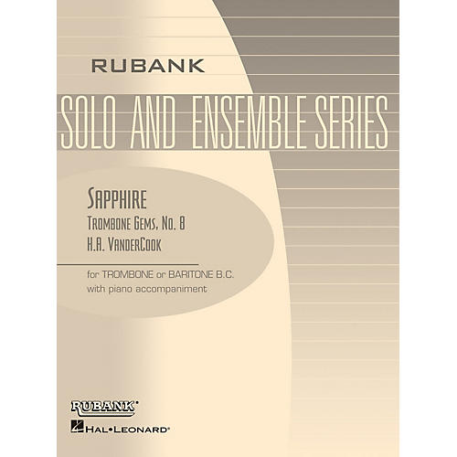 Rubank Publications Sapphire (Trombone (Baritone B.C.) Solo with Piano - Grade 3) Rubank Solo/Ensemble Sheet Series-thumbnail