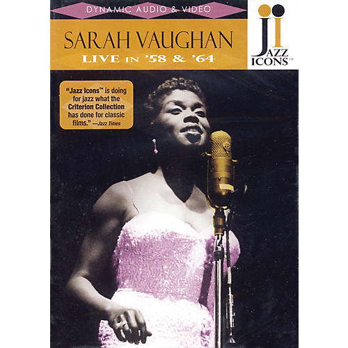 Jazz Icons Sarah Vaughan - Live in '58 and '64 Live/DVD Series DVD Performed by Sarah Vaughan-thumbnail