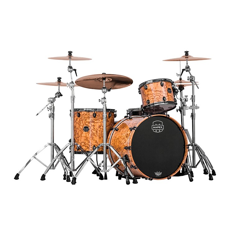 Mapex Saturn IV MH 3-Piece Exotic Rock Shell Pack Natural Ash Burl
