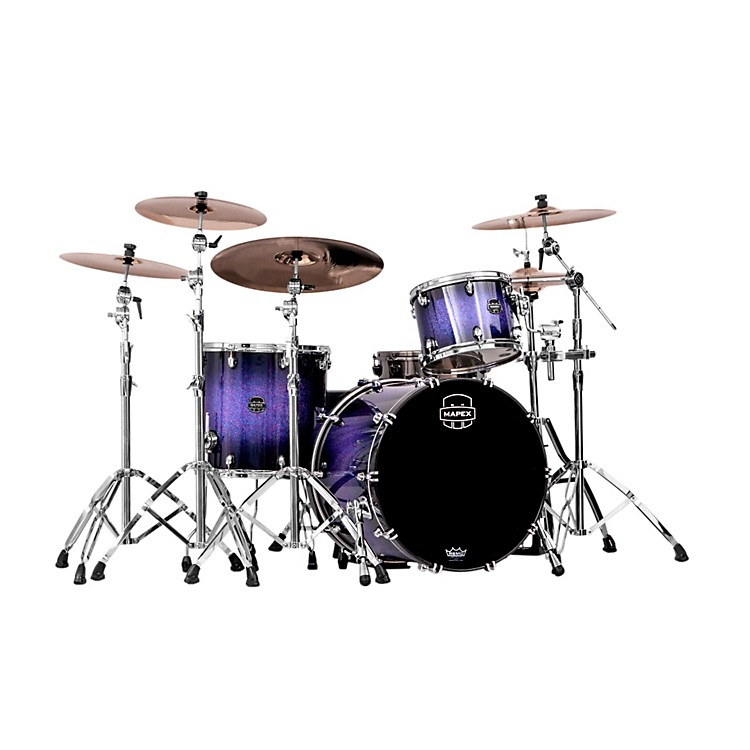 Mapex Saturn IV MH 3-Piece Rock Shell Pack Marine Spiral