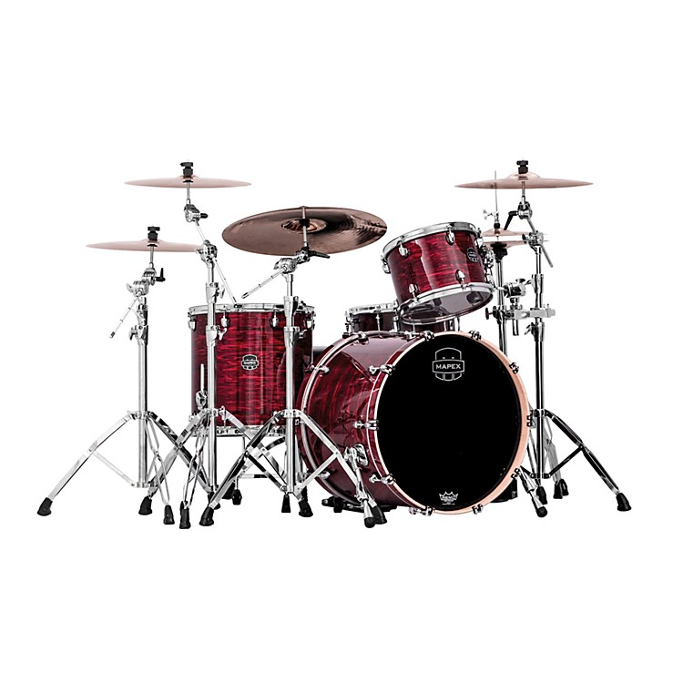 Mapex Saturn IV MH 3-Piece Rock Shell Pack Red Pearl Strata