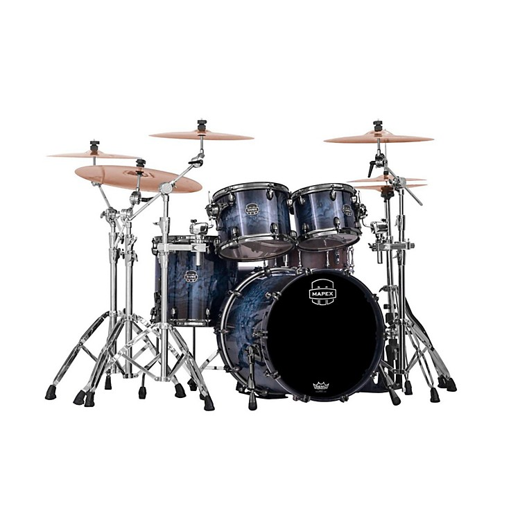Mapex Saturn IV MH 4-Piece Jazz Shell Pack Deep Water Ash Burl