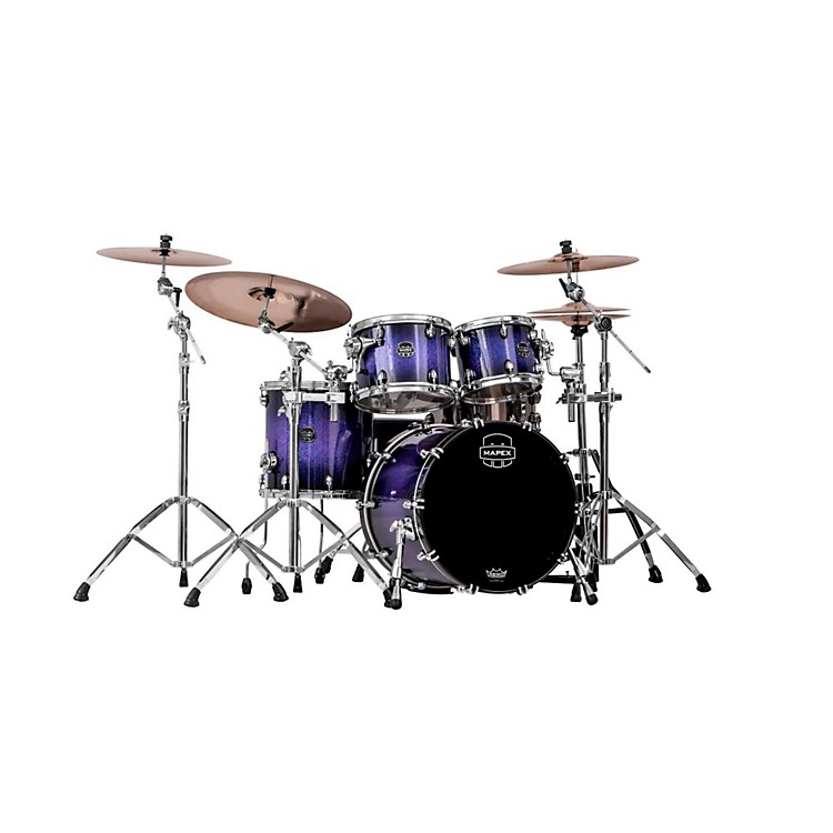 Mapex Saturn IV MH 4-Piece Jazz Shell Pack Red & Blue Hybrid Sparkle