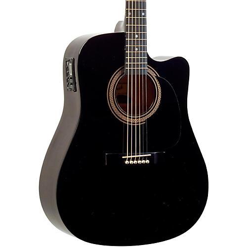 Savannah Savannah SO-SGD-10C Dreadnought Acoustic-Electric Guitar Black