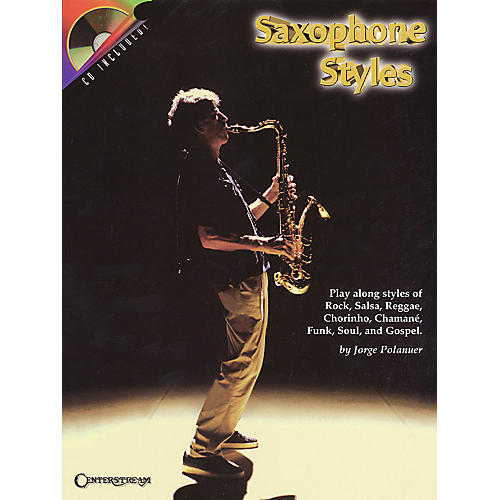 Centerstream Publishing Saxophone Styles Brass Series Book with CD Performed by Jorge Polanuer-thumbnail