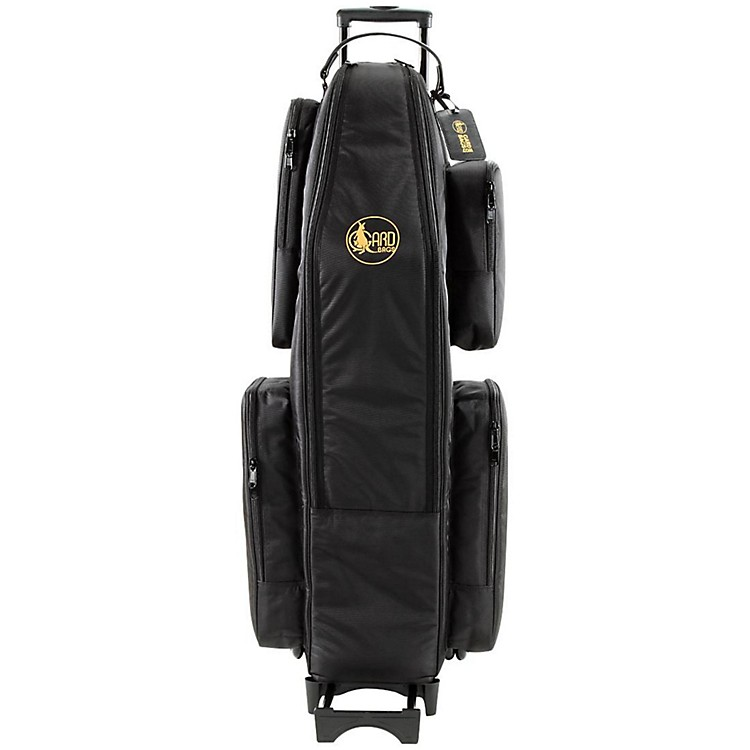 Gard Saxophone Wheelie Bag in Synthetic with Leather Trim Baritone Only Synthetic w/ Leather Trim