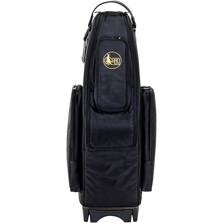 Gard Saxophone Wheelie Bag in Synthetic with Leather Trim Fits 2 Altos or Alto/Soprano Synthetic w/ Leather Trim