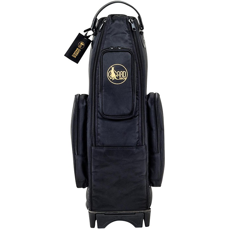 Gard Saxophone Wheelie Bag in Synthetic with Leather Trim Fits Alto or Soprano Synthetic w/ Leather Trim