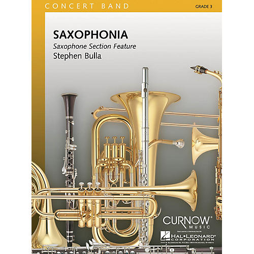 Hal Leonard Saxophonia (Grade 3 - Score and Parts) Concert Band Level 3 Composed by Stephen Bulla-thumbnail