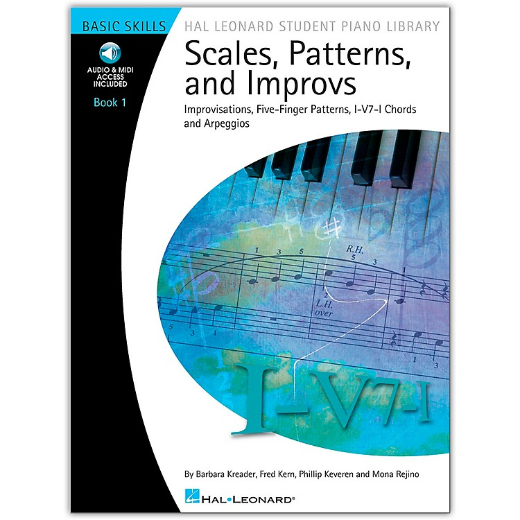 Hal LeonardScales, Patterns And Improvs - Book 1 (Book/CD) - Hal Leonard Student Piano Library