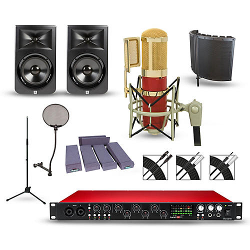 Focusrite Scarlett 18i20 Recording Package with MXL Genesis and JBL LSR308 Pair-thumbnail