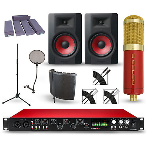 Focusrite Scarlett 18i20 Recording Package with MXL Genesis and M-Audio Limited Edition BX8 Pair-thumbnail