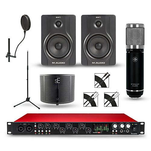 Focusrite Scarlett 18i20 recording Package with Sterling ST59 and M-Audio BX5 Pair-thumbnail