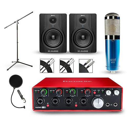 Focusrite Scarlett 18i8 2nd Gen Interface with MXL 4000 and M-Audio BX5 Pair-thumbnail