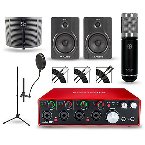 Focusrite Scarlett 18i8 2nd Gen Interface with Sterling ST59 and M-Audio BX5 Pair-thumbnail
