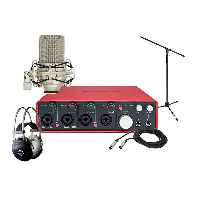 Focusrite Scarlett 18i8 MXL 990 Package