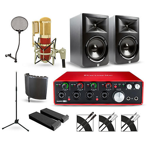 Focusrite Scarlett 18i8 Recording Package with MXL Genesis and JBL LSR308 Pair-thumbnail