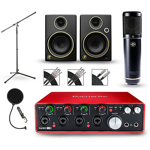 Focusrite Scarlett 18i8 Recording Package with Sterling ST51 and Mackie Limited Edition CR3 Pair-thumbnail