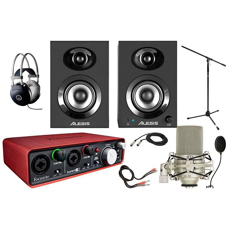 Focusrite Scarlett 2i2 MXL 990 Package