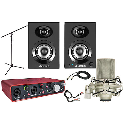 Focusrite Scarlett 2i4 MXL 990 Package