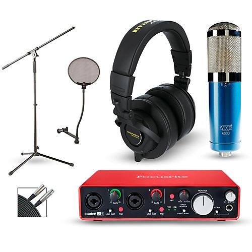 Focusrite Scarlett 2i4 Recording Package with MXL 4000 and Marantz MPH-2-thumbnail
