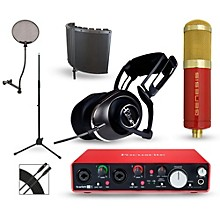 Focusrite Scarlett 2i4 Recording Package with MXL Genesis and BLUE Lola
