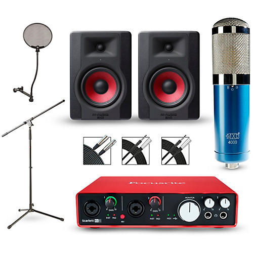 Focusrite Scarlett 6i6 Recording Package with MXL 4000 and M-Audio Limited Edition BX5 Pair-thumbnail